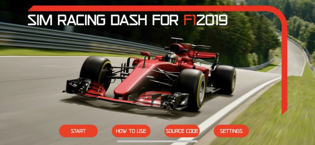 Sim Racing Dashboard for F1 2018